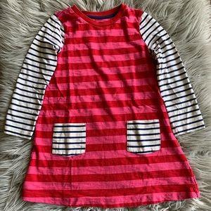 Mini Boden Striped Long Sleeve Dress